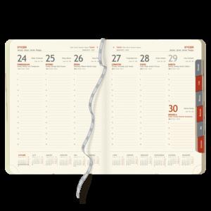 blok kalendarza książkowego A4 TYGODNIOWY | BL129