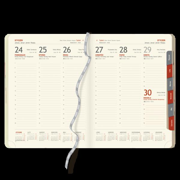 blok kalendarza książkowego A4 TYGODNIOWY   BL129