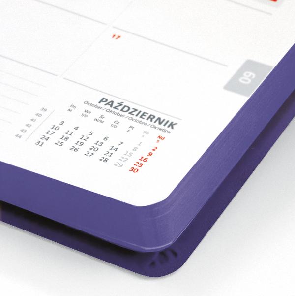 kalendarz książkowy A5 dzienny ŚLIWKOWY | KK03