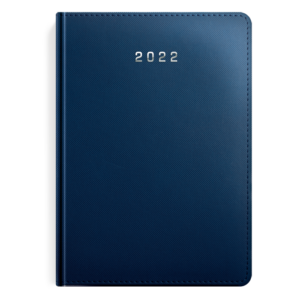 kalendarz książkowy A5 dzienny MATOWY GRANAT | KK08