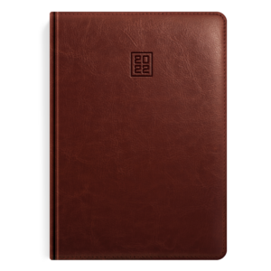 kalendarz książkowy A5 dzienny  ORZECHOWY BRĄZ | KK10