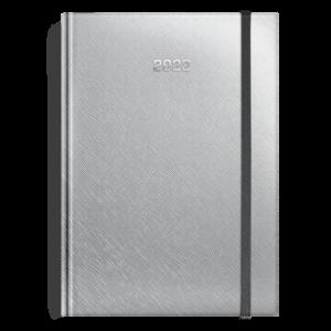 kalendarz książkowy A5 dzienny SREBRO | KK24
