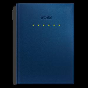 kalendarz książkowy A5 dzienny METALIZOWANY GRANAT I SELEDYN | KK26