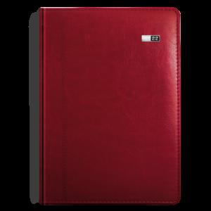 kalendarz książkowy B5 dzienny BURGUND | KK38