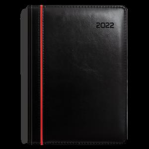 kalendarz książkowy B5 dzienny CZERŃ I CZERWIEŃ | KK39