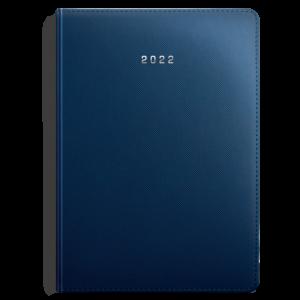 kalendarz książkowy A4 dzienny MATOWY GRANAT | KK47