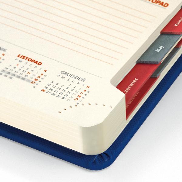kalendarz książkowy A4 dzienny AKSAMITNY POPIEL   KK50