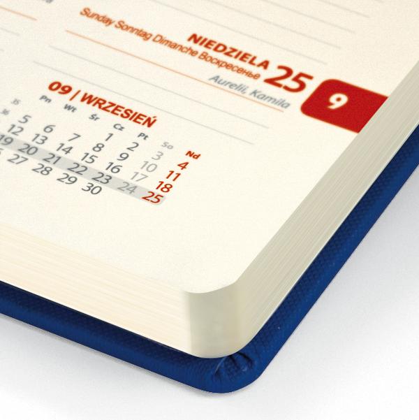 kalendarz książkowy A6 tygodniowy MATOWY GRANAT | KK57