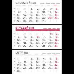 kalendarium TRÓJDZIELNE CZERWONE | KTC142