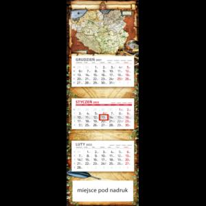 kalendarz panoramiczny STARA MAPA | PAN110