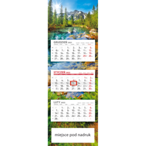 kalendarz panoramiczny RYBI POTOK | PAN111