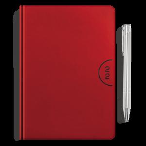 kalendarz książkowy A5 dzienny CZERWIEŃ + długopis | PREZENT11