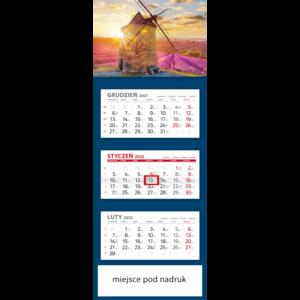 kalendarz trójdzielny klasyczny WIATRAK | T100