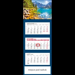 kalendarz trójdzielny klasyczny MORSKIE  | T101