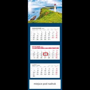 kalendarz trójdzielny klasyczny LATARNIA | T102