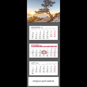 kalendarz trójdzielny klasyczny NASTROJE | T104