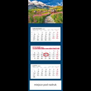 kalendarz trójdzielny klasyczny TATRY | T105