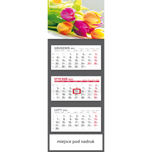 kalendarz trójdzielny klasyczny TULIPANY | T106
