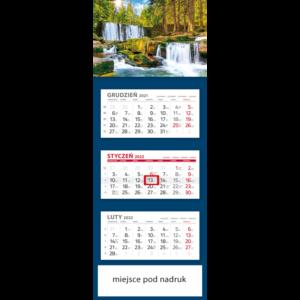 kalendarz trójdzielny klasyczny WODOSPAD | T93
