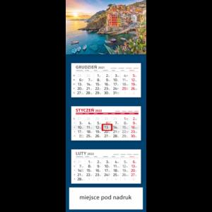 kalendarz trójdzielny klasyczny WAKACJE | T94