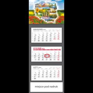 kalendarz trójdzielny klasyczny POLSKA | T95