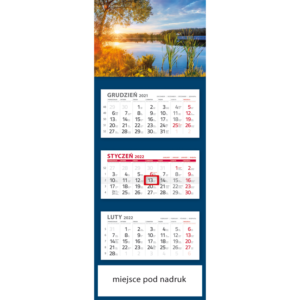 kalendarz trójdzielny klasyczny ZACHÓD SŁOŃCA | T96