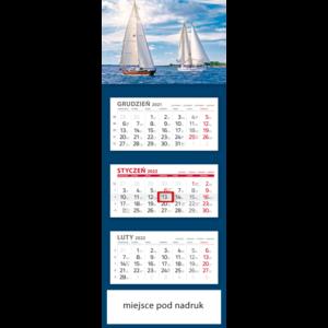 kalendarz trójdzielny klasyczny ŻAGLÓWKI | T97