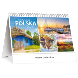 kalendarz biurkowy miesięczny NIEZWYKŁA POLSKA | TB123