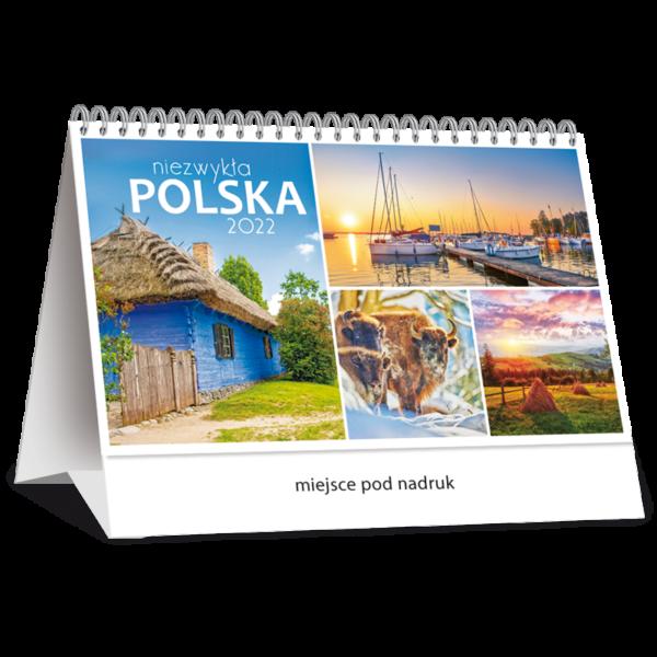 kalendarz biurkowy miesięczny NIEZWYKŁA POLSKA   TB123
