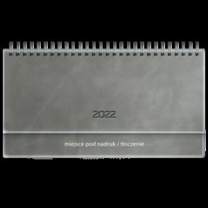 kalendarz biurkowy VIP AKSAMITNY POPIEL | TB64