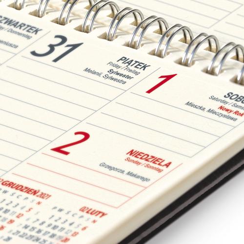 kalendarz biurkowy VIP CZERŃ   TB65