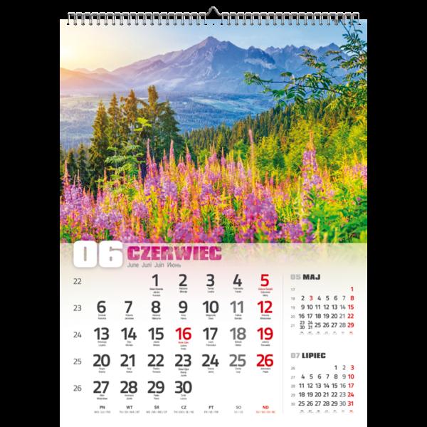 kalendarz wieloplanszowy TATRY   W119
